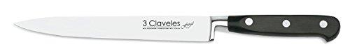 3 CLAVELES Cuchillo para Filetear Forgé de Acero Inoxidable, 19 cm