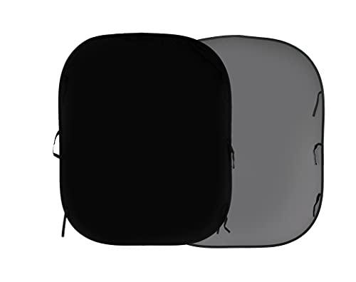 Manfrotto LLLB56GB - Fondo Medio (1.5 x 1.8 m) Negro/Gris