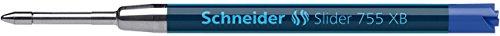 Schneider Schreibgeräte Kugelschreibermine Slider 755, dokumentenecht, XB, blau