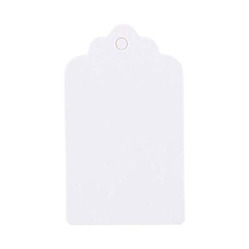 kraftpapier hanger 5x3cm wit geschenken vakantie bruiloft verjaardag jakobsschelp label blanco visitekaartje, 100 stuks