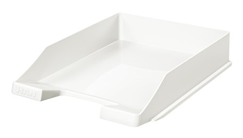 HAN Briefablage KLASSIK – 10 STÜCK, moderne und stapelbare Ablage im frischen Design bis Format DIN A4/C4, weiß, 1027-X-12