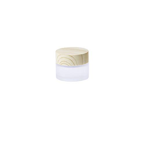 Ssowun Maquillage Bouteille Mini Bouteilles en Verre 5 Pièces, Petit Bouteille Bouteille Cosmétique Rechargeable Bouteilles pour Ombre à paupières La crème