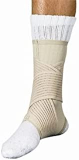 Ankle Support Double Strap Beige Medium