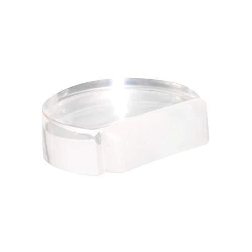 WAGNER Bodentürstopper Clear - 45 x 39 x 16 mm, hochwertiger Kunststoff, transparent, selbstklebend, rückstandslos entfernbar - 15502711