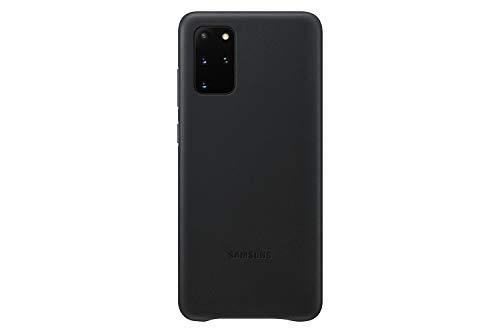 Samsung Leather Smartphone Cover EF-VG985 für Galaxy S20+   S20+ 5G Handy-Hülle, echtes Leder, Schutz Hülle, stoßfest, premium, schwarz