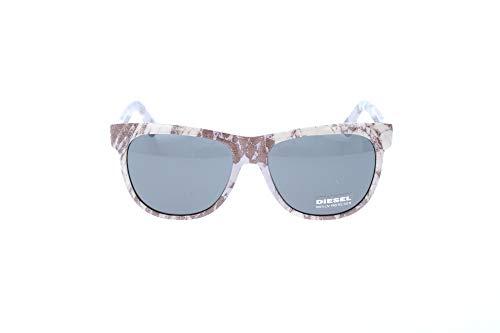 Diesel Sonnenbrille DL9076 05N-56-16-145 Gafas de sol, Blanco (Weiß), 56.0 Unisex Adulto