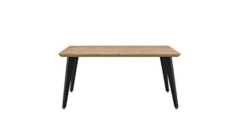 Venprodin Mesa Fija de Comedor, Mesa de Salón Moderna. Medidas: 150x90x75 cm (Ancho x Fondo x Alto) (Roble Piedra)
