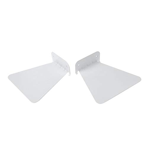 WOVELOT 2pcs Modern Hierro libro estante pared invisible estantería para la decoración del hogar estantería flotante (blanco)