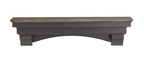 Pearl Mantels 499-60-27 Hadley Mantel Shelf, 60-Inch, Cottage Distressed