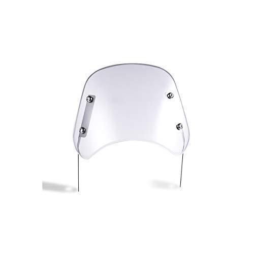 Deflector de parabrisas universal para motocicleta para faros de motocicleta de 5 '' - 7 '' (Transparente)