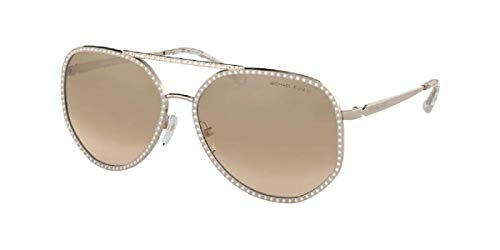 0MK1039B Miami 11088Z 58MM Rose Gold/Khaki Gradient Flash Pilot Sunglasses for Women + FREE Complimentary Eyewear Kit