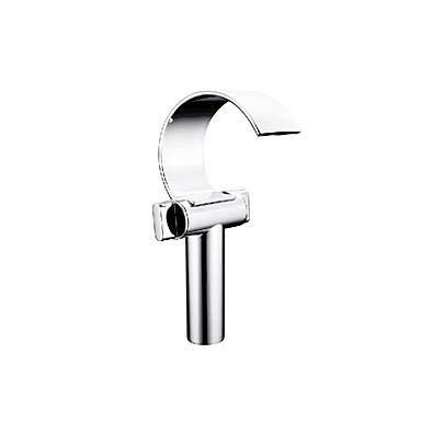 LLLYZZ badkamer wastafel kraan -waterval verchroomd centrale mouwen met twee handgrepen en een poreuze kraan/messing