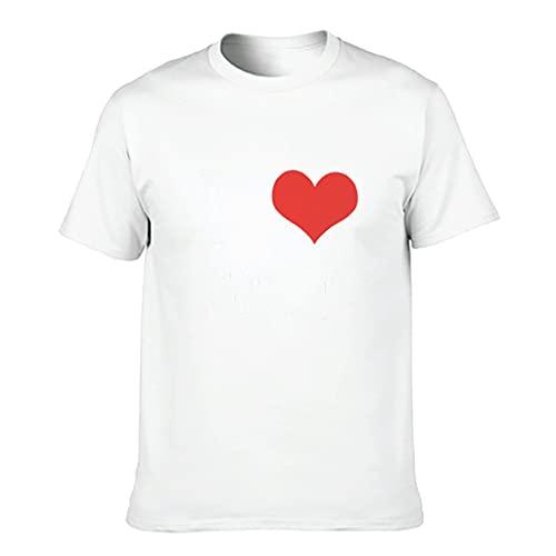 Herren Baumwoll-T-Shirt Ich Liebe Cool lustig bequem - Thema Oberteile White XL