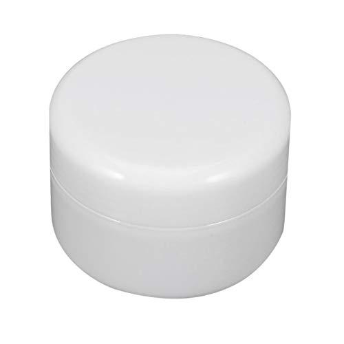 LeftSuper Botella de Tarro de Crema Envase cosmético de plástico PP vacío Redondo para Belleza Subenvasado de Maquillaje de Muestra pequeña con Tapones de Rosca