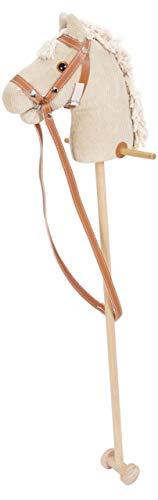 Nemmer Steckenpferd Cord aus Holz / mit Haltegriffen, Laufrollen und Halfter mit Zügel Länge: 97 cm / ab 3 Jahre