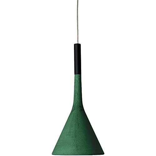 Lámpara Colgante GU10 8W, H10M con Ahorro energético y ecosostenibilidad, Hecha de Cemento, Modelo Aplomb, 16,5 x 16,5 x 35,5 centímetros, Color Verde (Referencia: 195007L/10-43)