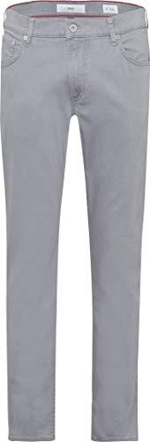 Brax Men\'s Chuck Hi Flex Summer Colour Five Pocket Trouser, Grey (Smoke 07), W33/L34