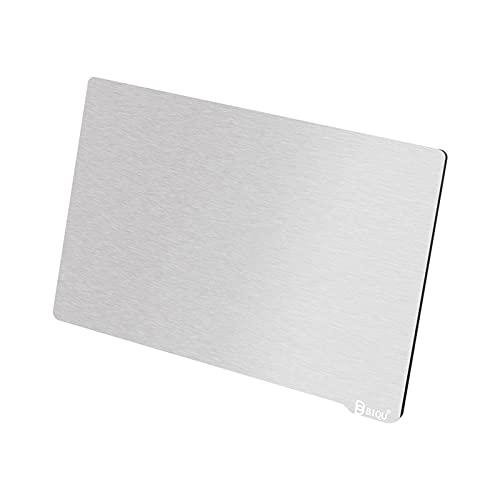 aibesy Placa de construcción flexible Superficie de resorte Plataforma de acero Remoción Hoja de acero de resorte con base magnética para impresoras 3D de impresión de resina SLA/DLP 140x84mm