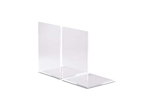 Maul boekensteunen, hoogwaardig acryl, 12 x 12 x 17 cm, glashelder, 2 stuks