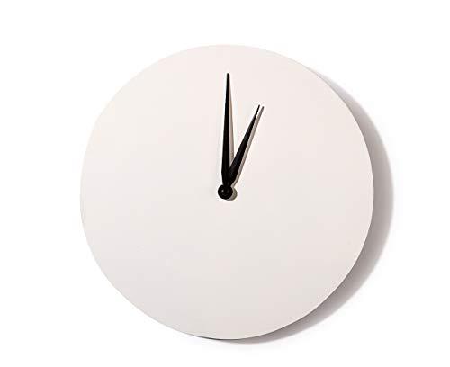 Artemio - Orologio Tondo da Decorare, 30 cm, Colore: Bianco