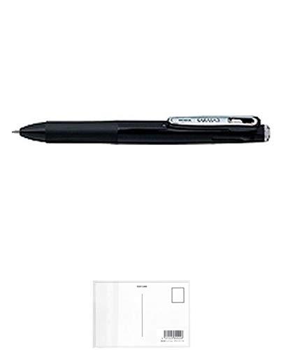 ゼブラ 多色ジェルインクボールペン サラサ3 濃黒軸 J3J2-DBK 【× 7 本 】 + 画材屋ドットコム ポストカードA