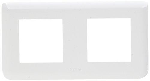 Legrand LEG78804 Plaque programme mosaïque 2 x 2 modules horizontal Blanc