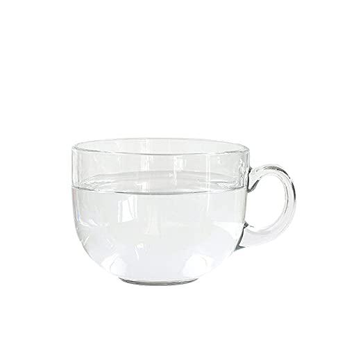 WSYGHP Taza de Bebida de Cristal, Taza de té de la Flor de la Oficina, Taza de café, Taza de Desayuno para el hogar, Taza de Leche, Copa de Avena de elaboración de la Cerveza Vasos de Whisky