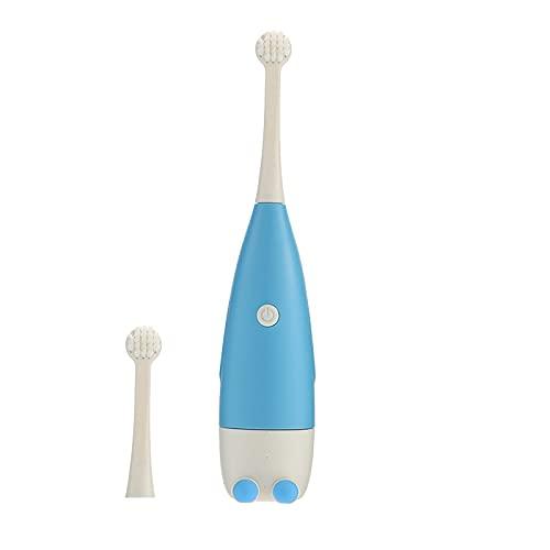 Rubuiz Elektrische Zahnbürste für Kinder Schallzahnbürste, weiche batteriebetriebene Zahnbürste mit intelligentem Timer, wasserdicht austauschbare Tiefenreinigung für Kinder,Reisezahnbürste