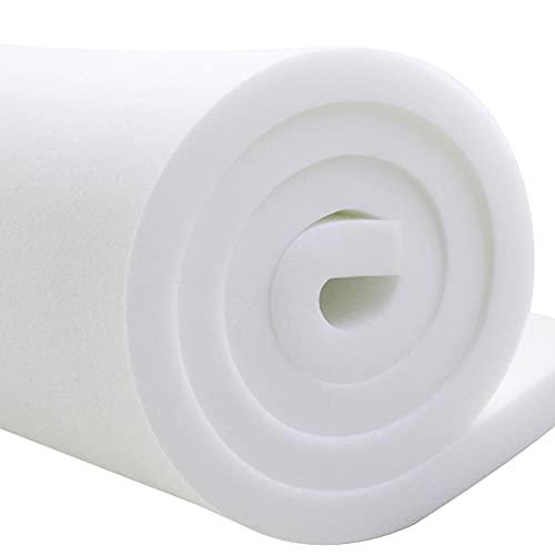 MOTT Espuma de espuma de alta densidad, cojín trasero, asiento de muebles de jardín, relleno de espuma, espuma para tapicería, espuma para manualidades, 180 x 40 cm, 3 cm