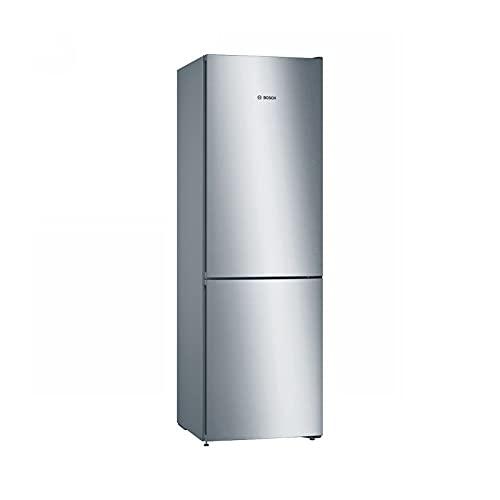 Bosch - Frigorífico-congelador combinado Serie 4 de libre posicionamiento, 186 x 60 cm, color acero inoxidable, KGN36VLEA