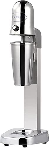 Commercial Milkshake Maker, 2 Speeds Stainless Steel Single Head Drink Mixer Machine, Smoothie Milk Ice Cream Blender