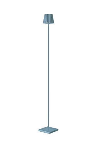 Sompex Troll LED Gartenstehleuchte | Akkubetrieben | Aluminium | Dimmbar | Spritzwasserschutz, Farbe:blau