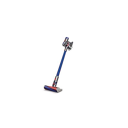 Dyson V7 Fluffy aspirateur balai sans fil et sans sac - brosse sols durs et 4 accessoires spécifiques poils d'animaux Bleu, Nickel