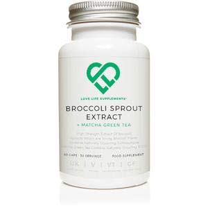 LOVE LIFE Broccoli Sprout   60 Capsules   15,000mg per 2 Capsule Serving   High Antioxidant Content   Rich Green Vegetable Contains Fibre, Calcium and Vitamin C   50 Times the Sulfurophane Found in Mature Broccoli   Suitable for Vegetarians and Vegans   P
