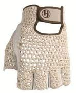 HJ Half Finger Golf Glove, Mens Medium, fits on Left Hand, 3-Gloves