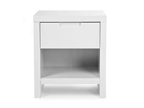 CHILDHOME Nachttisch Weiß Quadro White NTQN