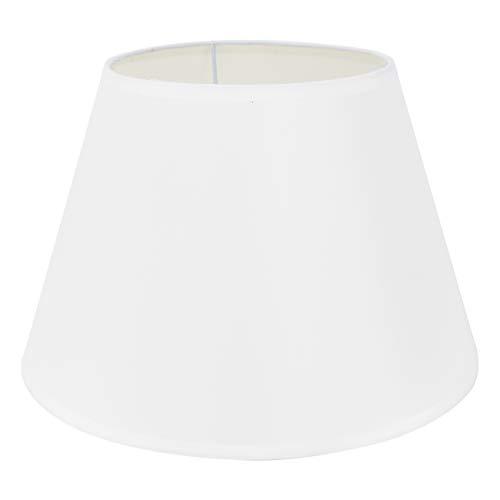 DULEE 8.5'' E27/E14 Screw Tela Pantalla de Lámpara de Pie Mesa y Lámpara de Noche,(Top) 15cm x (Altura) 17cm x (Fondo) 22cm,Blanco