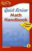 Quick Review Math Handbook: Hot Words, Hot Topics, Book 1, Student Edition