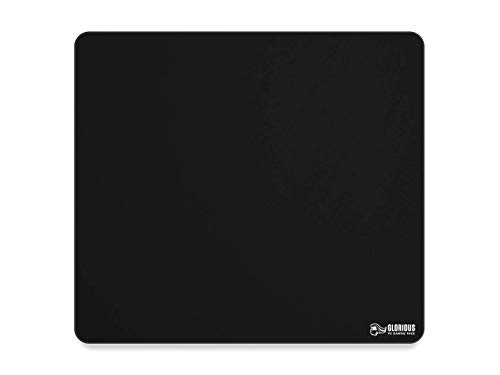 Glorious XL Gaming Mouse Mat/Pad - Large, Wide (XL) Black Cloth Mousepad, Stitched Edges | 16'x18' (G-XL)
