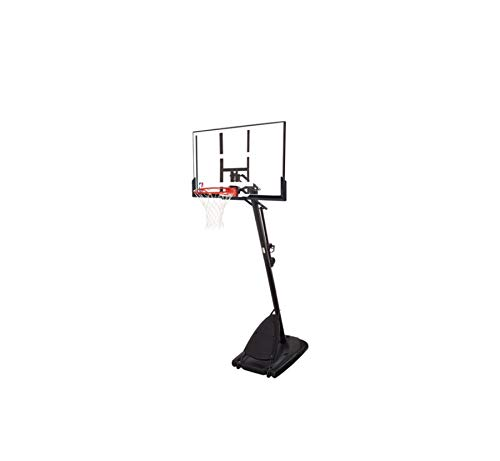"Spalding- 54"" Polycarbonate Backboard NBA Portable Basketball System/Hoop -"