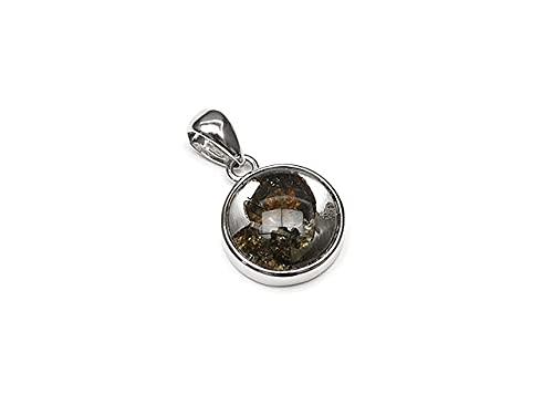 ケニア産 パラサイト セリコ隕石 ペンダントトップ 11mm No.210【1点もの】 / 60-22 ME-PT210