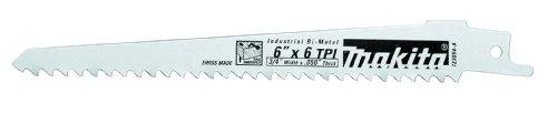 Makita 723058-A-5 6-Inch 6-TPI Wood Cutting Reciprocating Saw Blade