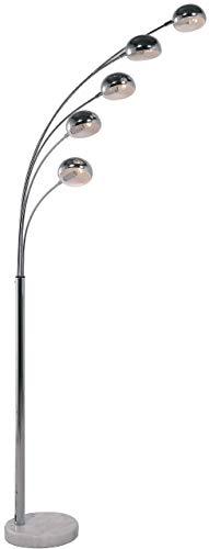 Kare Stehleuchte Five Fingers Economy, schwenkbare Stehleuchte, Bogenlampe, Stehlampe Bogen, (H/B/T) 220x100x115cm