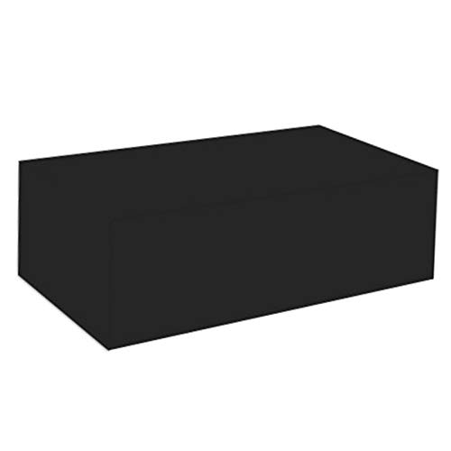 LITINGFC-Garden Furniture Cover,Heavy Duty Oxford Fabric Windproof Waterproof Protective Outdoor Patio Table Covers With Drawstring,11 Sizes (Color : Black, Size : 170x94x70cm)