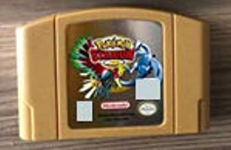 N64 Video Gamess Game Cartridge -64 bit USA Version Video Game Cartridge Pokemon Stadium 2 Golden Shell English Language