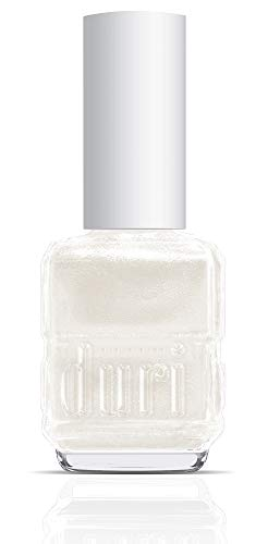 Duri Nail Polish, 50 Platinum, White Metallic Shimmer Pearl Finish Semi Sheer Coverage, 0.5 fl.oz.