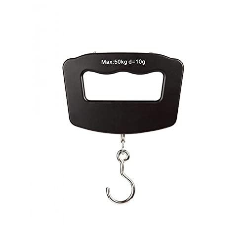 POHOVE Báscula de mano de 50 kg, 10 g, báscula de equipaje digital con retroiluminación LED, básculas de viaje, báscula de pesaje colgante, 4 unidades, para peces, maleta, bolsa de compras