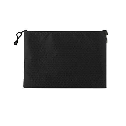Muka Paquete de 10 soportes de documentos con cremallera, bolsas de archivo, bolsas de malla con cremallera, organizador de documentos, Black (Negro) - 6DKC-JR0005_BLACK-A5