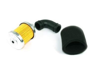 XXYHYQHJD Filtro de Aire de Aluminio 1/8 Filtro de Aire for R-C Nitro Buggy Motor del Carro del Coche Filtrar (Color : Plata, Size : Gratis)