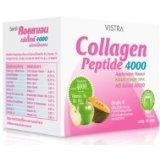 Vistra Collagen Peptide 4000 mg. Apple Melon Flavor 10 sachets/Box.